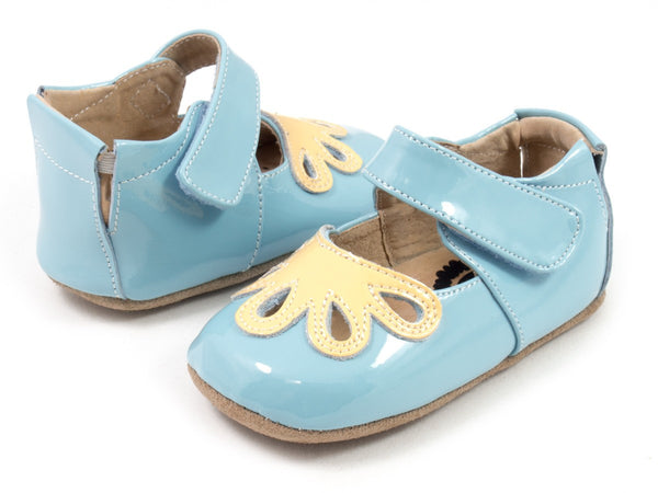 Livie & Luca Baby Girl Daisy Blue Petal Shoes