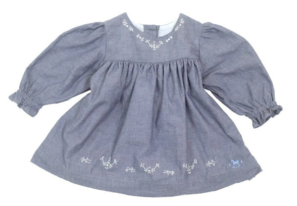 Blu Pony Vintage Baby Blu Chambray Dress LS2