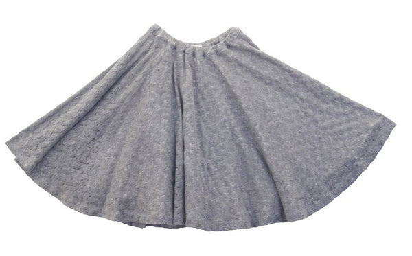 Blu Pony Vintage Girl's Gray Knit Skirt Grace M.N