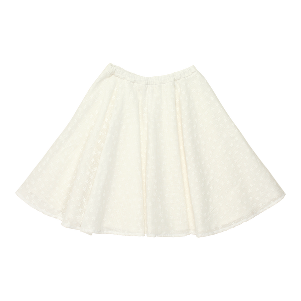 Blu Pony Vintage Girls Alta Double White Flower Skirt