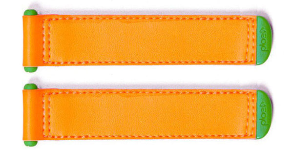 Plae Neon-Orange Shoe Tabs