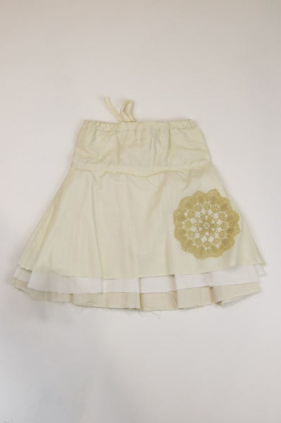 Happy Green Bee Cotton Muslin Skirt-4T-Natural-4T