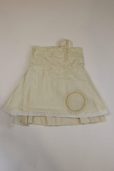 Happy Green Bee Cotton Muslin Skirt-5T-Natural-5T