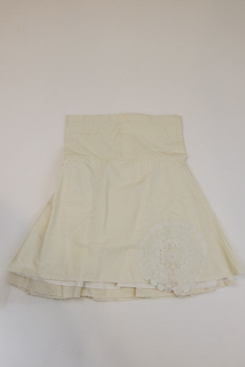 Happy Green Bee Cotton Muslin Skirt-6YRS-Natural-6