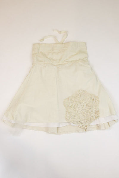 Happy Green Bee Cotton Muslin Skirt-7YRS-Natural-7