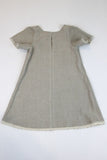 Happy Green Bee Natural Linen Dress-Natural-6