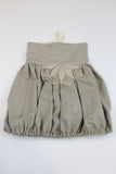 Happy Green Bee Linen Bubble Skirt-4T-Natural-4T