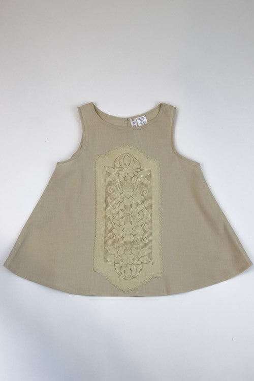 Happy Green Bee Sleeveless Blouse-7YRS-Natural-7