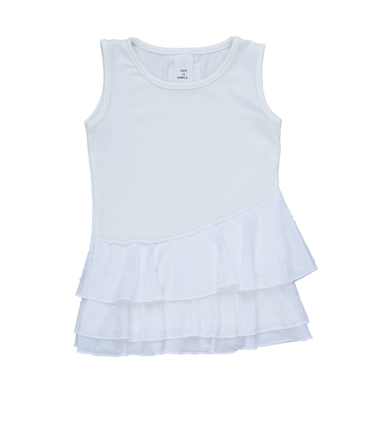 Persnickety Girls White Starshine Tank Top