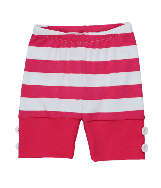 Persnickety Girls Pink Stripe Lucy Shortie
