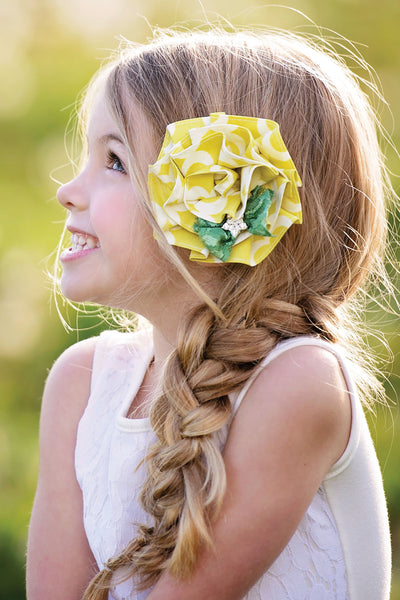 Persnickety Girls Yellow Marigold Clip