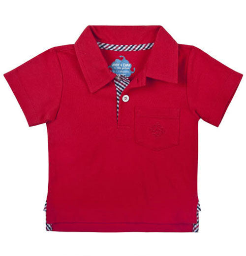 Andy and Evan -Pique Polo Red