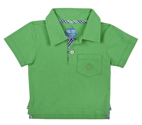 ANDY AND EVAN -PIQUE POLO GREEN