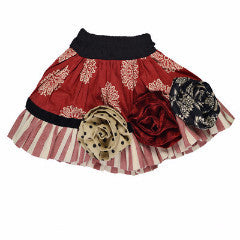 Persnickety Girl's Multi Color Rosette Skirt