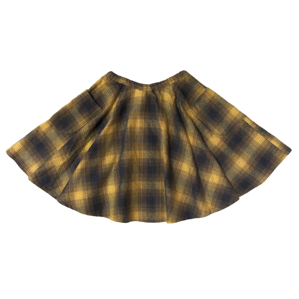 Blu Pony Vintage Girl's Sarah Golden Plaid Skirt