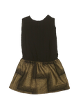 Blu Pony Vintage Girl's Black and Gold Party Dress Selma L
