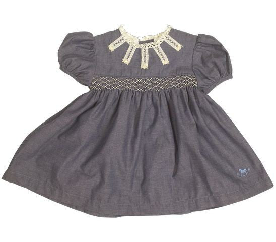 Blu Pony Vintage Baby Blu Chambray Dress LS1