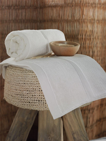 Moss Verbena Terapy Organic Ivory Hand and Bath Towel