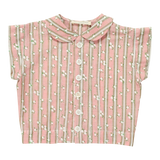 Blu Pony Vintage Girls Pink Floral Dot Tees Top