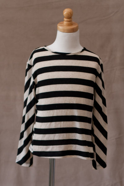 A.BIRD - Tilly Top in Black Stripe