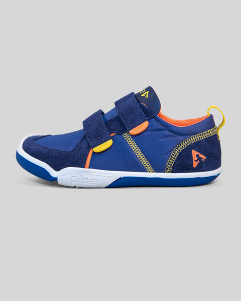 Plae Boy's Suede Denim/Navy Sneaker Shoes