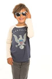 Chaser 'Vintage Eagle' Long Sleeve Sweatshirt (Toddler Boys, Little Boys & Big Boys)