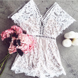 Love Ladder Lace Romper