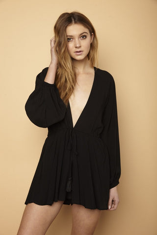 Sweet Babe Romper (Black)