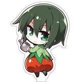 Kinio's Journey The Beautiful World Vegetable Costume Chibi Acrylic Standee NewDays x Dengeki Bunko 25th Anniversary