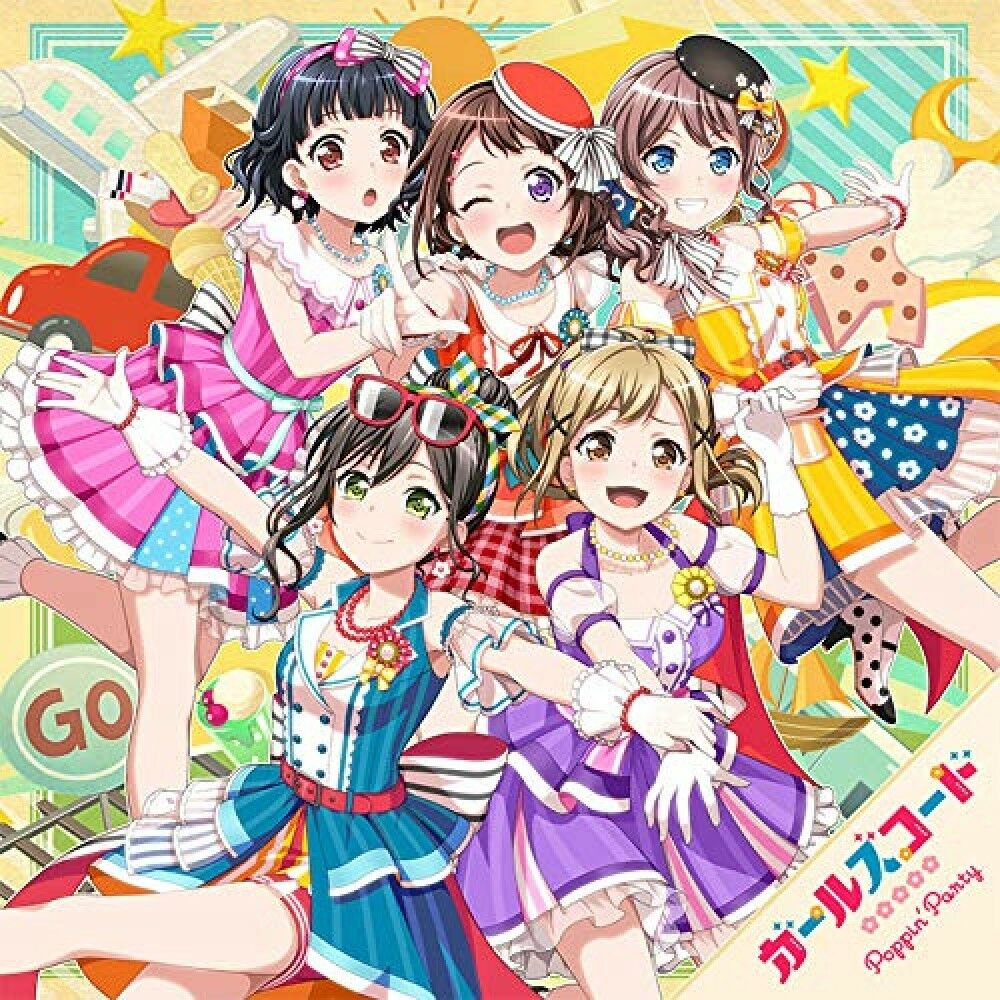 Girls Code Poppin'Party Bang Dream CD *pre-owned