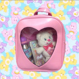 Glitter Heart Window Ita Bag