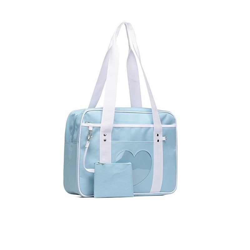 Retro Pastel Heart Window Japanese School ita Bag