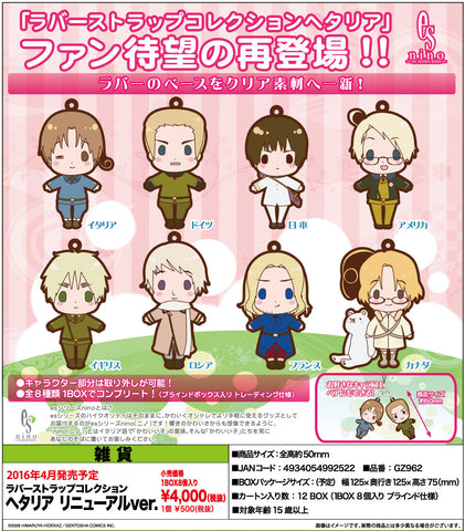 "New ""Hetalia"" Rubber Strap Collection Renewal Ver. Set 1"