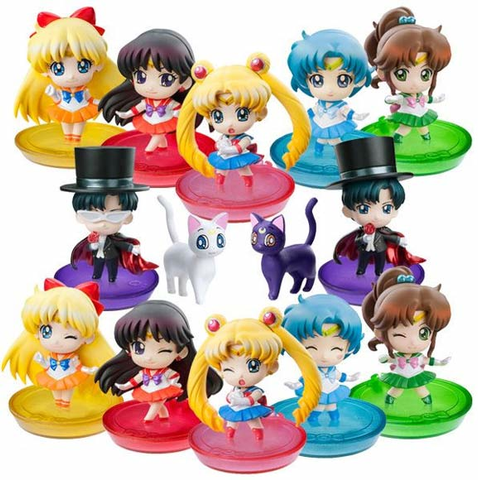 Sailor Moon Petite Chara Trading Figures set 1