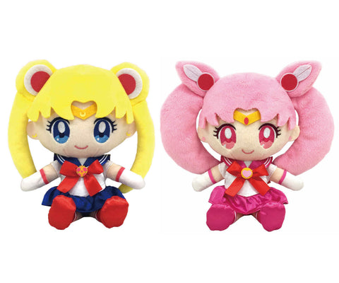 Sailor Moon and Chibi moon Eternal Romance Deluxe Plush Set Gift