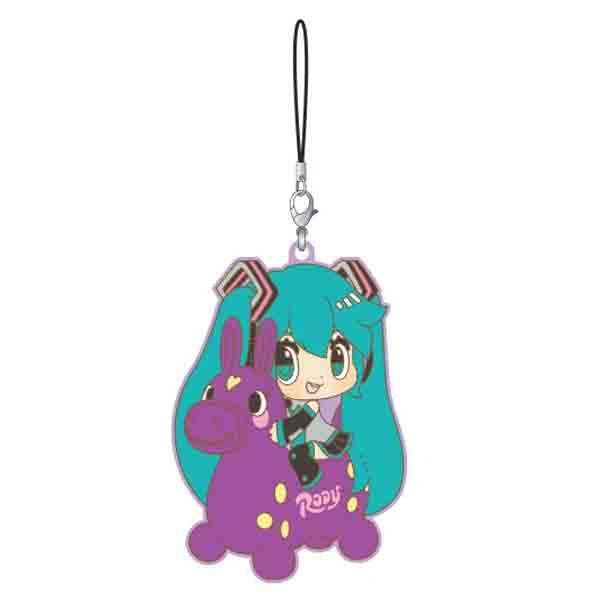 Hatsune Miku x CuteRody Rubber Straps Grape ver.