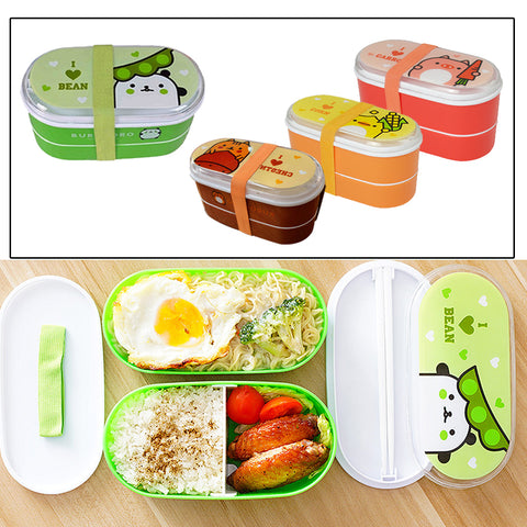Animal with Food Printed Bento  Box