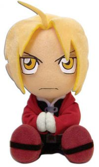 Fullmetal Alchemist Edward Sitting Pose Plush 8in