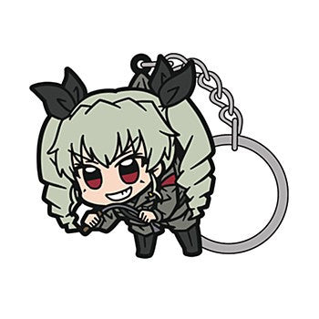 """GIRLS und PANZER"" Anchovy Tsumamare Key Chain"