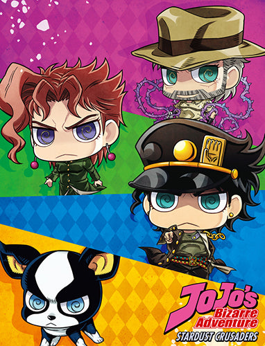 JoJo's Bizarre Adventure Chibi Sublmiation Throw Blanket