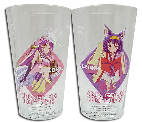 No Game No Life Set of Two Glasses Jibril and Izuna