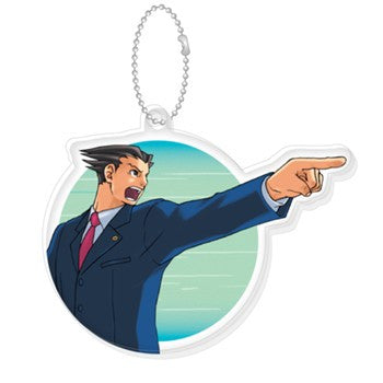 "New ""Ace Attorney"" Acrylic Key Chain Naruhodo Ryuichi"