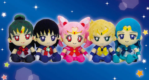 Sailor moon Sailor Senshi outer planets Authentic Bandai Plushies