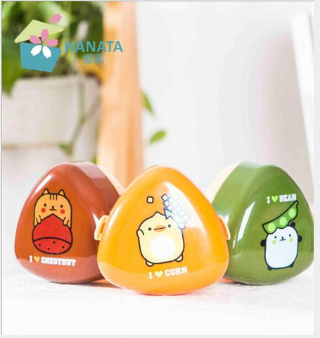 Animal with Food Printed Onigiri Rice Ball Holders Bento