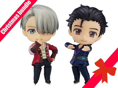 "CHRISTMAS BUNDLE ""Yuri on Ice"" Victor and Yuri Nendoroids 736 and 741"