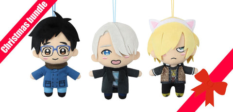 ANIME CHRISTMAS BUNDLE Yuri on Ice Plush set of 3