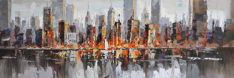 cityscape paintings streetscape art canvas art oil painting creative strokes. Black Bedroom Furniture Sets. Home Design Ideas