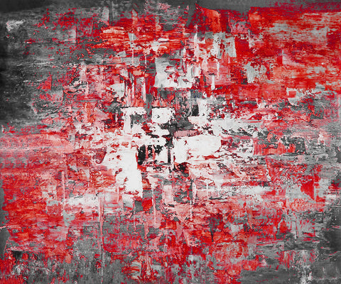 24GRP158 - Red Oil Painting Canvas Art