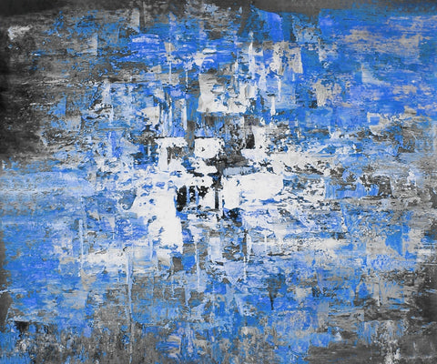 24GRP160 - Blue Oil Painting Canvas Art