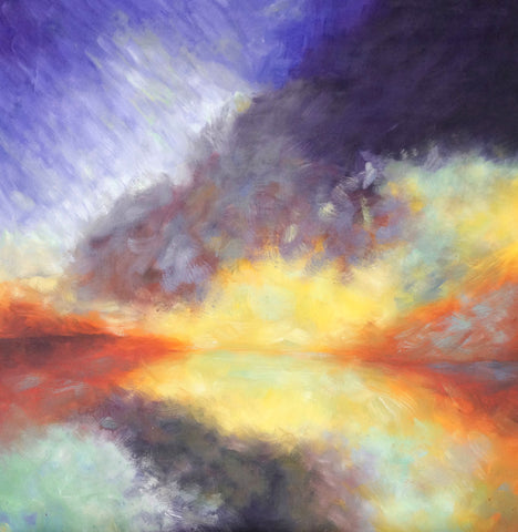 Abstract Sunrise 28Landscape52 Oil Painting Canvas Art